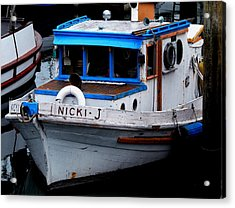 Rustic Boat Acrylic Print