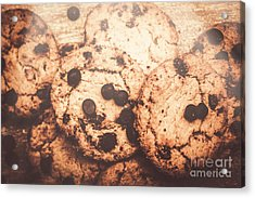 Rustic Chocolate Chip Cookie Snack Acrylic Print by Jorgo Photography - Wall Art Gallery