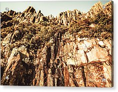 Rustic Cliff Spring Acrylic Print