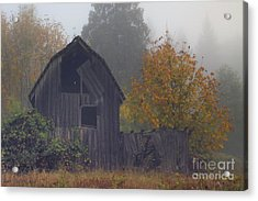Rustic Fall Acrylic Print by Larry Keahey