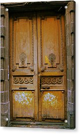 Rustic French Door Acrylic Print by Georgia Fowler