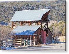 Rustic Hay Barn Cedaredge Colorado Acrylic Print