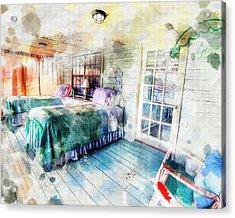 Rustic Look Bedroom Acrylic Print