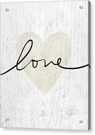 Acrylic Print featuring the mixed media Rustic Love Heart- Art By Linda Woods by Linda Woods
