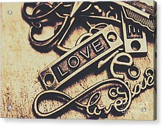 Rustic Love Icons Acrylic Print