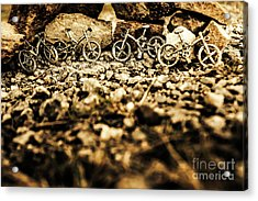 Rustic Mountain Bikes Acrylic Print by Jorgo Photography - Wall Art Gallery