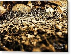 Rustic Mountain Bikes Acrylic Print