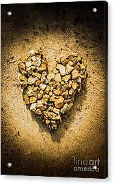 Rustic Rock Romance Acrylic Print