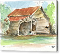 Rustic Southern Barn Acrylic Print by Greg Joens