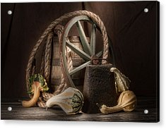 Rustic Still Life Acrylic Print by Tom Mc Nemar