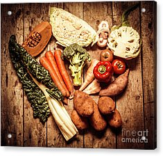 Rustic Style Country Vegetables Acrylic Print by Jorgo Photography - Wall Art Gallery