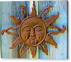 Rustic Sunface Acrylic Print