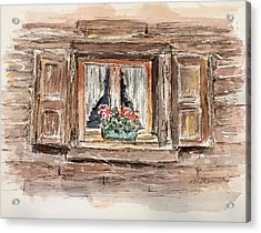 Rustic Window Acrylic Print by Stephanie Sodel