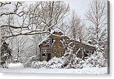 Rustic Winter Cabin Acrylic Print