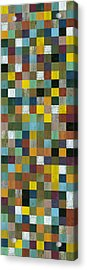 Rustic Wooden Abstract Tower Acrylic Print by Michelle Calkins