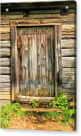 Rustic Wooden Door At Old World Wisconsin Acrylic Print by Christopher Arndt