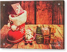 Rustic Xmas Decorations Acrylic Print by Jorgo Photography - Wall Art Gallery