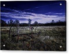 Rusting Away In Oklahoma Acrylic Print by David Longstreath