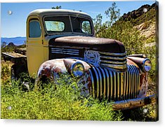 Rusting In The Weeds Acrylic Print by James Marvin Phelps