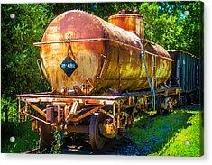 Rusting Oil Tanker Car Acrylic Print