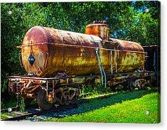 Rusting Oil Tanker Car Jamestown Acrylic Print