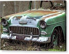 Rusty 55 Chevy Acrylic Print by William Havle