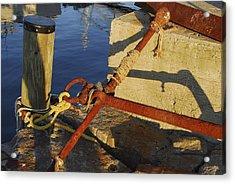 Acrylic Print featuring the photograph Rusty Anchor by AnnaJanessa PhotoArt