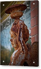 Acrylic Print featuring the photograph Rusty Angel by Linda Unger