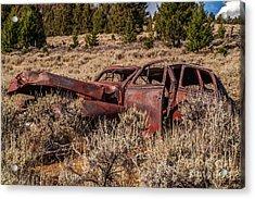 Rusty Automobile Acrylic Print by Sue Smith