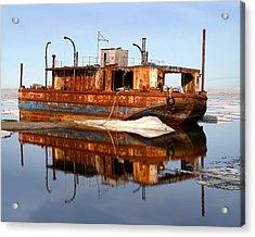Rusty Barge Acrylic Print