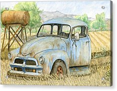 Rusty Blue Chevy Acrylic Print