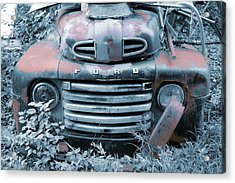 Rusty Blue Ford Acrylic Print
