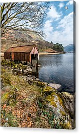 Rusty Boathouse Acrylic Print by Adrian Evans