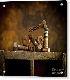 Rusty Bolt And Nuts Acrylic Print