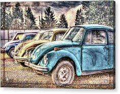 Acrylic Print featuring the photograph Rusty Bugs by Jean OKeeffe Macro Abundance Art