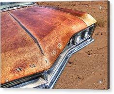 Rusty Buick Acrylic Print by Gill Billington