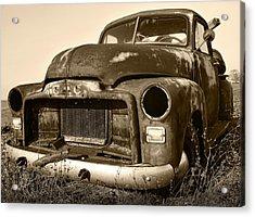 Rusty But Trusty Old Gmc Pickup Acrylic Print by Gordon Dean II