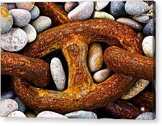 Acrylic Print featuring the photograph Rusty Chain by Gabor Pozsgai