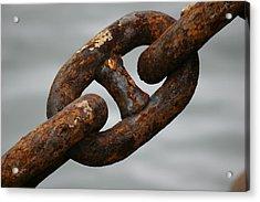 Rusty Chain Acrylic Print by Hans Jankowski