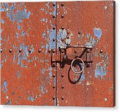 Rusty Door Acrylic Print