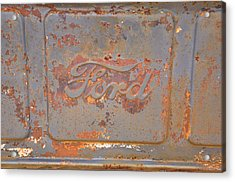 Rusty Ford Acrylic Print by Jan Amiss Photography