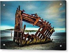 Rusty Forgotten Shipwreck Acrylic Print