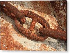 Rusty Links 1 Acrylic Print