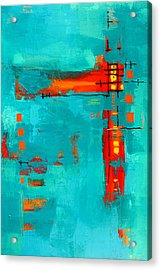 Rusty Acrylic Print by Nancy Merkle