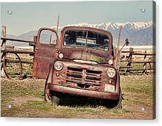 Acrylic Print featuring the photograph Rusty Old Dodge by Ely Arsha