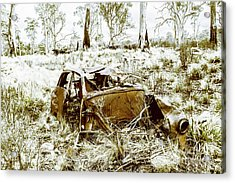 Rusty Old Holden Car Wreck  Acrylic Print