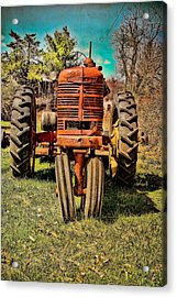 Rusty Old Tractor  Acrylic Print by Colleen Kammerer