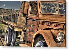 Rusty Old Truck Acrylic Print by Peter Schumacher