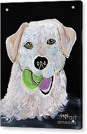 Acrylic Print featuring the painting Rusty On Canvas by Janice Rae Pariza