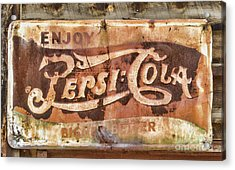 Rusty Pepsi Cola Acrylic Print by Steven Parker